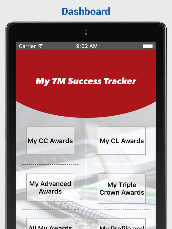 My TM Success Tracker Screenshots