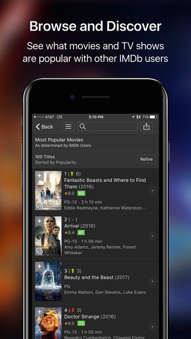 IMDb Movies & TV - Trailers and Showtimes Screenshot