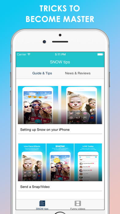 Tips for SNOW - Selfie, Motion sticker, Fun camera Apps free for iPhone/iPad screenshot