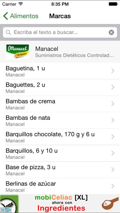mobiCeliac [mini] iPhone Screenshot 4