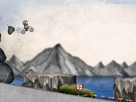 Stickman Downhill - Motocross Screenshots