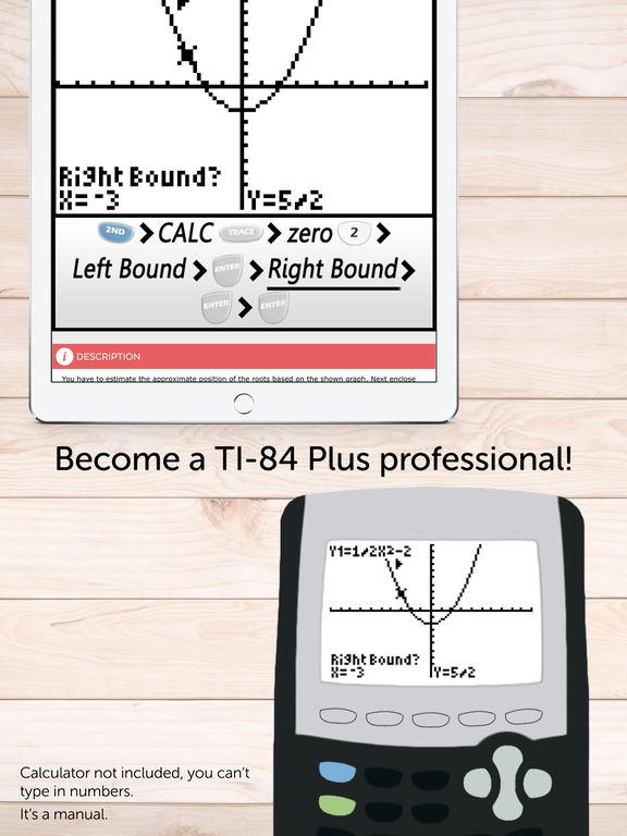 TI 84 Graphing Calculator Manual for TI-84 Plus Screenshots