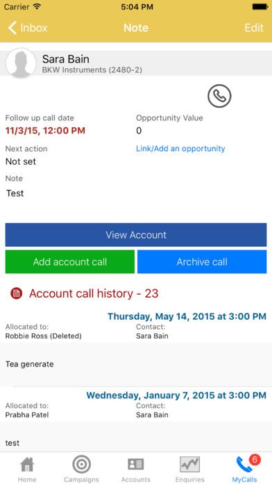 sales-i Mobile iPhone Screenshot 5