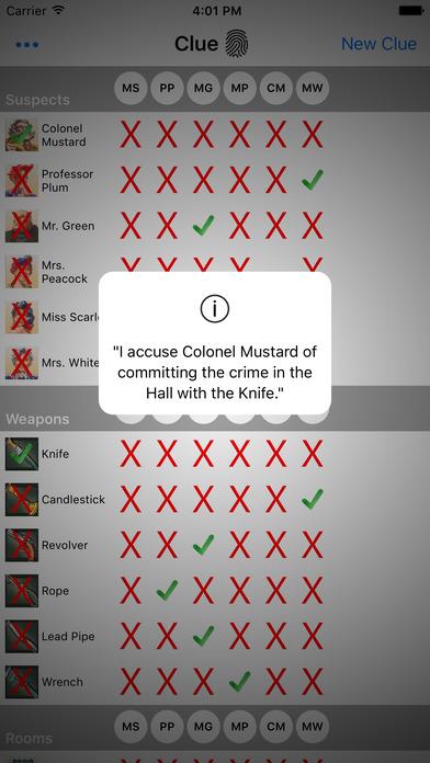 Clue Buster iPhone Screenshot 3