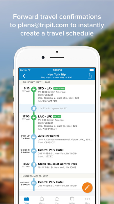 TripIt - Travel Organizer iPhone Screenshot 2