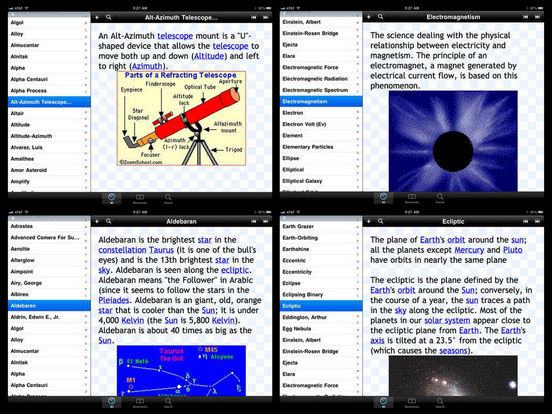 Glossary of Astronomical Terms iPad Screenshot 2