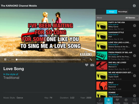 The KARAOKE Channel Mobile iPad Screenshot 1