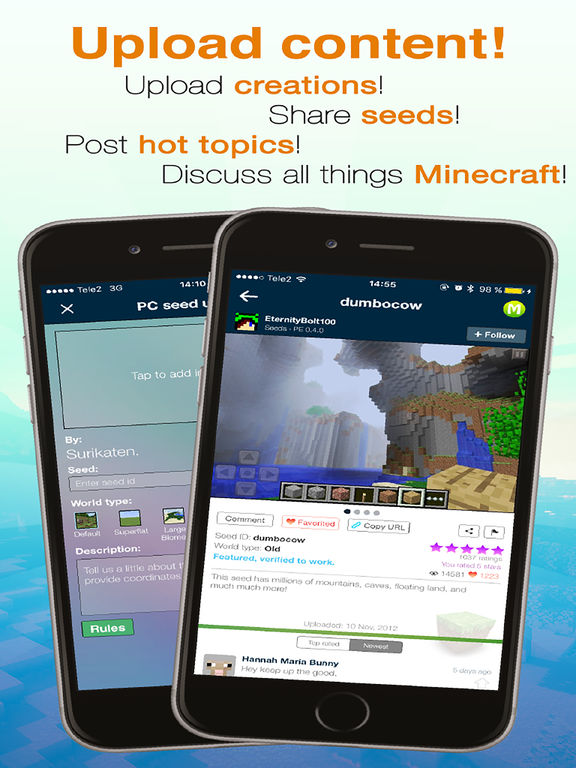 Screenshots of Minecraft Seeds Lite for iPad