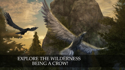 Flying Crow Bird Simulator screenshot 1