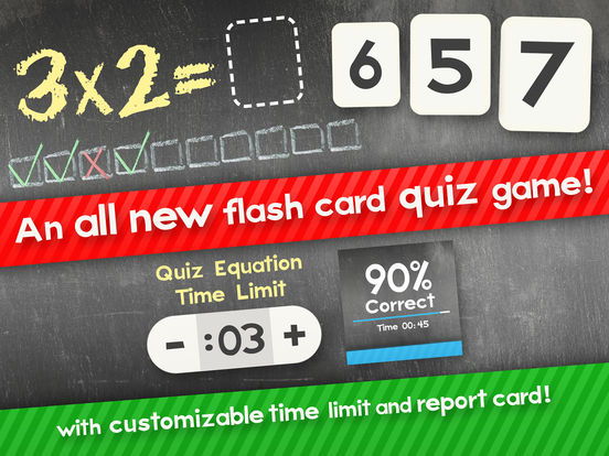 Multiplication Flash Cards Games Fun Math Practicescreeshot 1