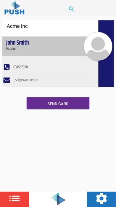 Push Cardz Business Cards Screenshot