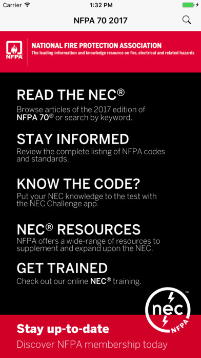 NFPA 70®: National Electrical Code® 2017 Edition Screenshot