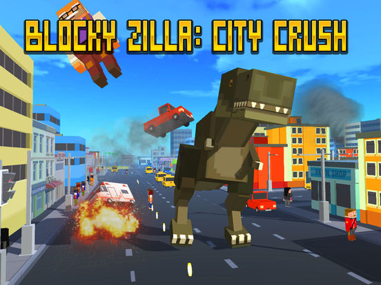 Blocky Zilla: City Crush Full Screenshots