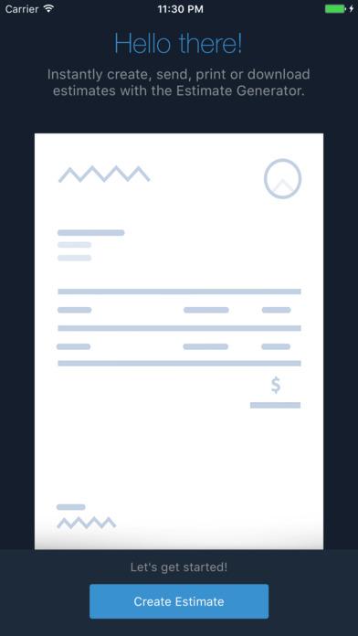 Estimate Generator - Zoho screenshot 1