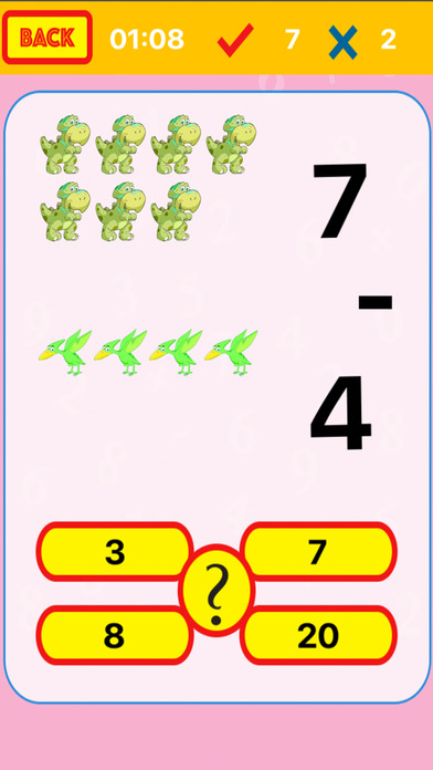 The Dinosaur Hunter Math Good for Kids screenshot 3