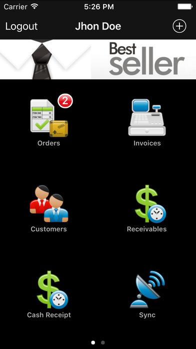 BestSeller Point of Sale iPhone Screenshot 1