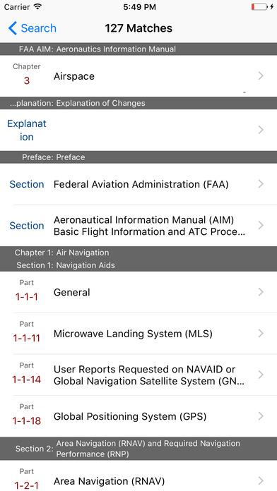 FAA AIM for Pilots - Aeronautical Information Manual iPhone Screenshot 5