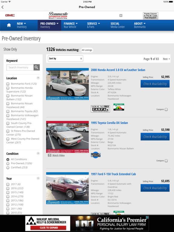 App Shopper Bommarito Automotive Group Business