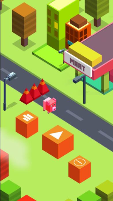 Amazing Pig Cubic Town Dasher screenshot