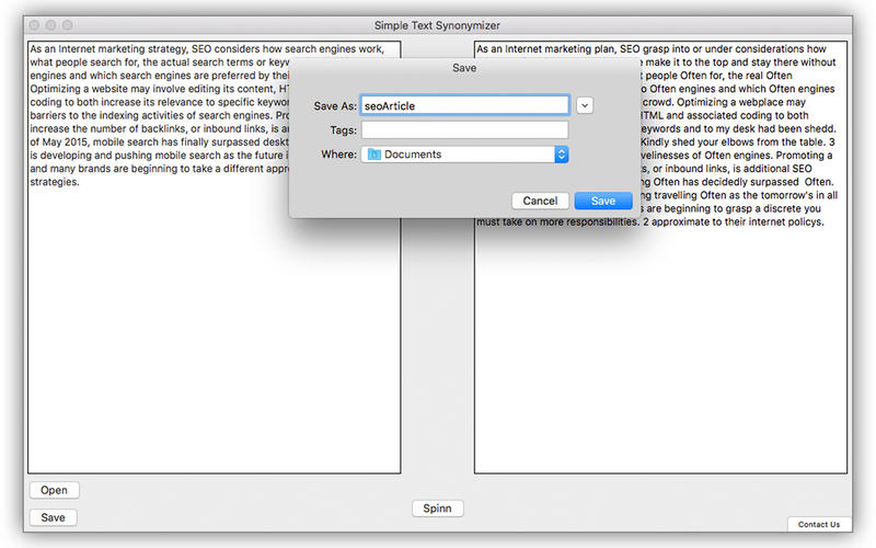 Simple Article Spinner for Mac