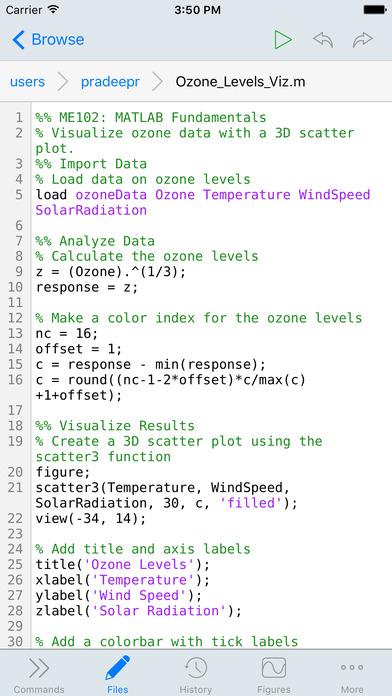 MATLAB Mobile iPhone Screenshot 3