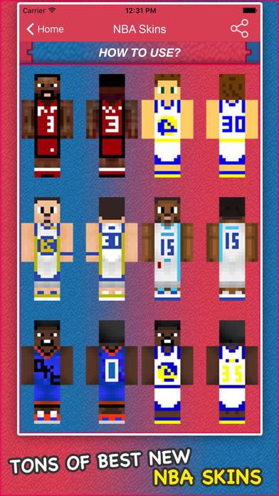 App Shopper Best NBA Basketball Skins For Minecraft PE PC Social - Skin para minecraft pe de obama