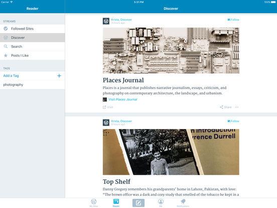 WordPress iPad Screenshot 1