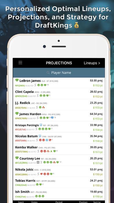 LineStar - Optimal Lineups for DK app image