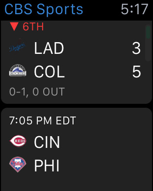 CBS Sports Mobile iPhone Screenshot 6