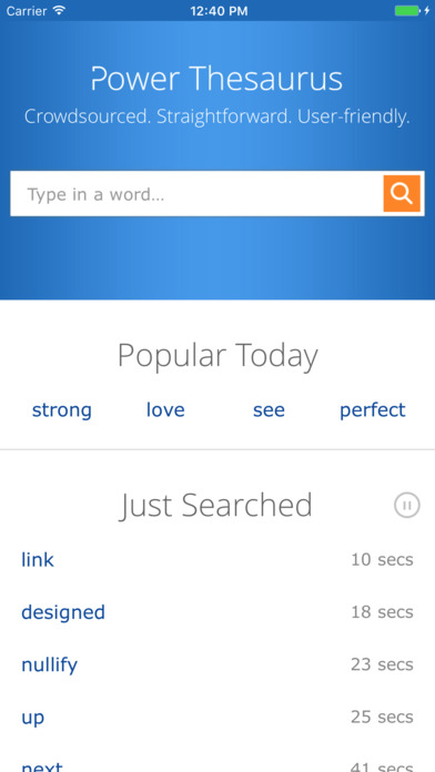 Screenshot for Power Thesaurus in United States App Store