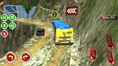 Hill Police Bus : Simulation Driving Game 3D app image