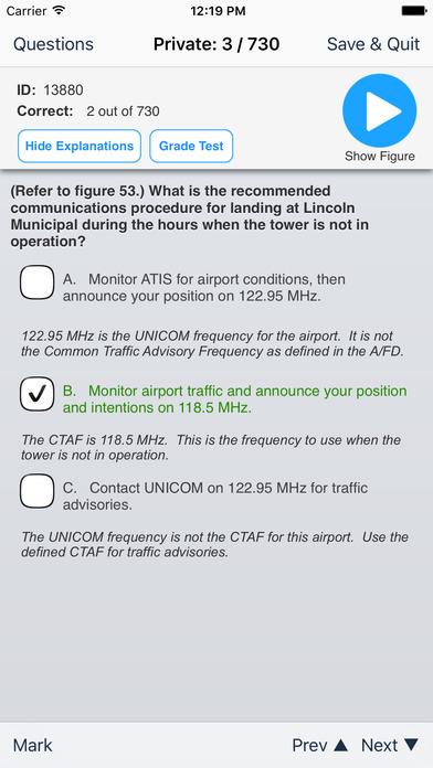 Study Buddy Test Prep (FAA Private Pilot) iPhone Screenshot 3