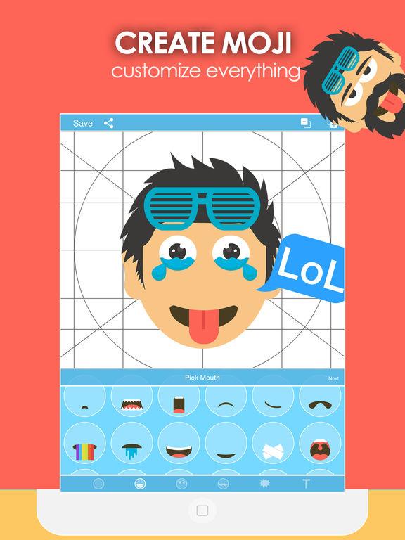 Moji Creator - Emoji Generator & Maker for sticker Screenshots