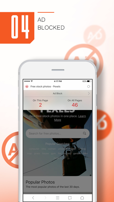 Screenshots of UC Browser MINI for iPhone