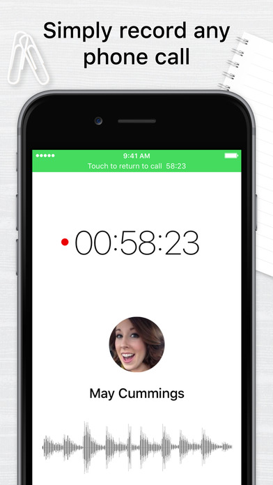 Call Recorder for iPhone Free: Record Phone Calls Apps free for iPhone/iPad screenshot