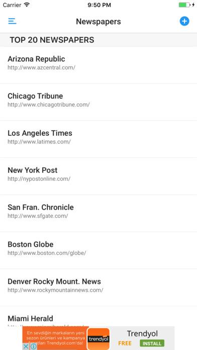 NEWSPAPERS AND MAGAZINES iPhone Screenshot 3