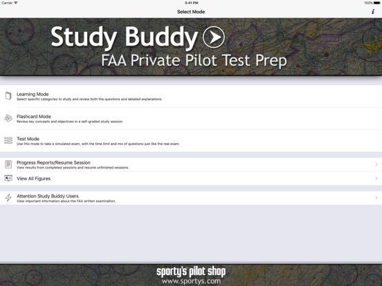 Study Buddy Test Prep (FAA Private Pilot) iPad Screenshot 1