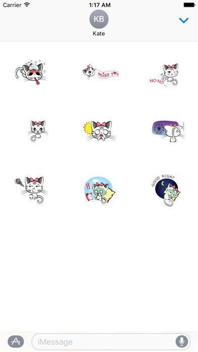 Pretty Kitty Sticker screenshot 3