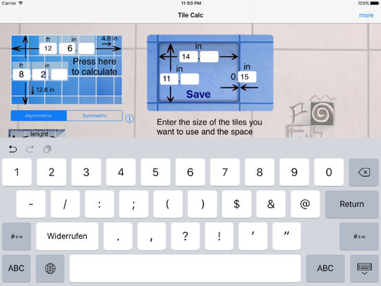 Tile Calc iPad Screenshot 4