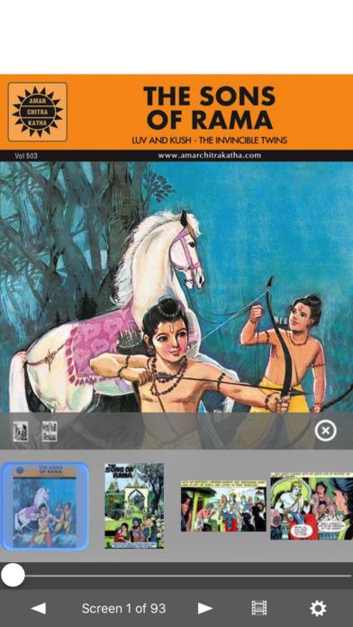 The Sons Of Rama - Amar Chitra Katha Comics - Classics Collection iPhone Screenshot 1