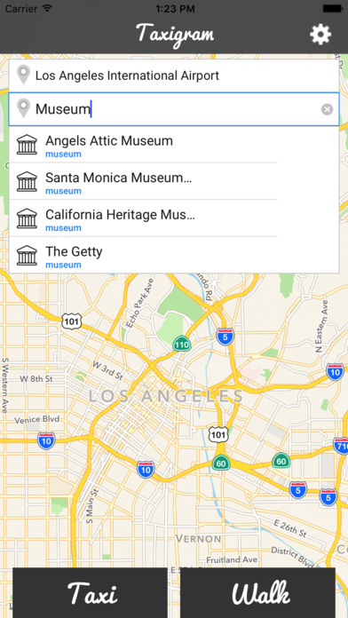 Taxigram Los Angeles Taxi Guide Скриншоты5
