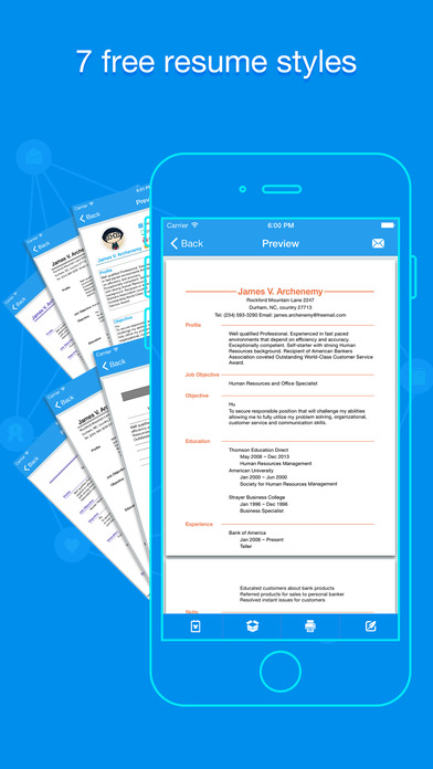 iphone screenshot 4 - Make A Quick Resume Free