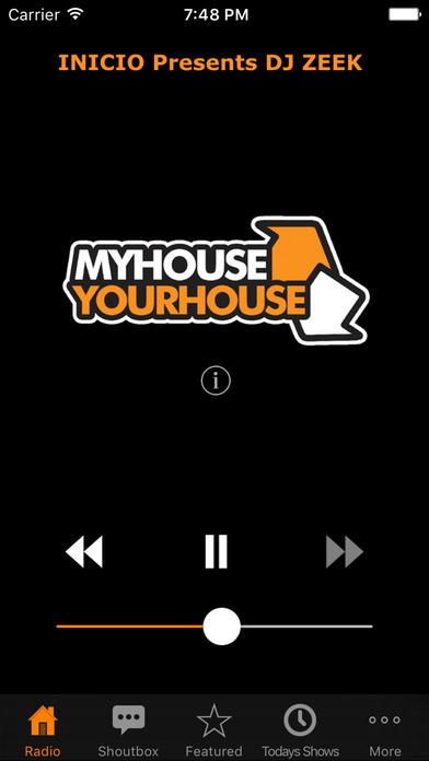 My House Your House Radio iPhone Screenshot 1