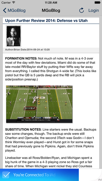 MGoBlog iPhone Screenshot 2