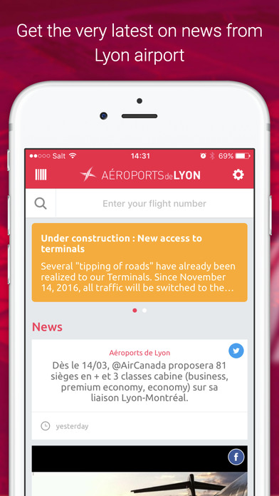 FLY'on - Lyon Airports, Lyon-Saint Exupéry iPhone Screenshot 3