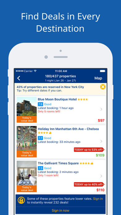 Booking.com - Hotel reservations for 105,000+ hotels iPhone Screenshot 4