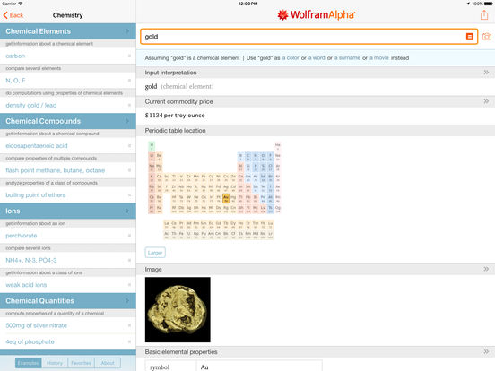 WolframAlpha iPad Screenshot 3