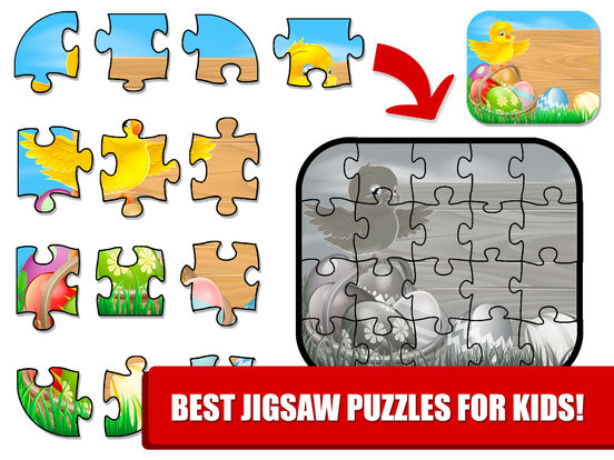 Kids Bunny Jigsaw Puzzle Easter Games screenshot 10