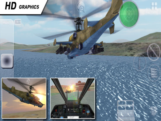 Black Shark HD - Combat Gunship Flight Simulator Screenshots