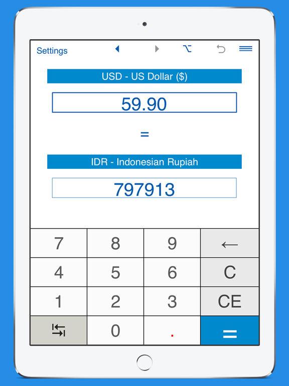App Shopper: US Dollar / Indonesian Rupiah currency converter (Travel)